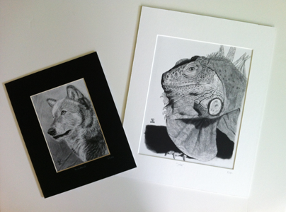 image of matted prints